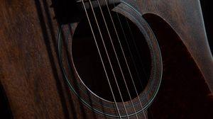 Превью обои гитара, струны, музыкальный инструмент, музыка