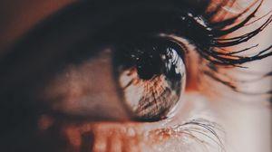 Превью обои глаз, ресницы, зрачок, свет
