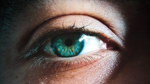 Превью обои глаз, зрачок, макро, зеленый