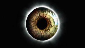 Превью обои глаз, зрачок, реалистичный, зеленый, круглый