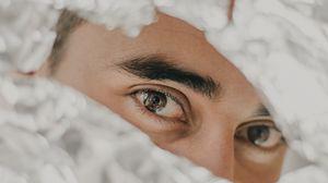 Превью обои глаза, бумага, брови