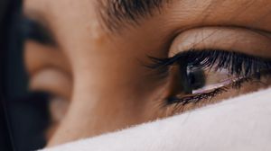 Превью обои глаза, лицо, sad, маска, взгляд