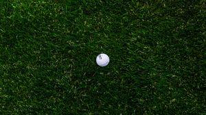 Превью обои гольф, мяч, трава, газон