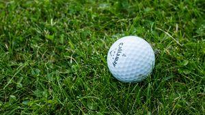 Превью обои гольф, мяч, трава