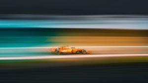 Превью обои гонка, автомобиль, скорость, размытость