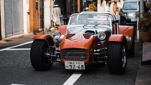Превью обои гоночный автомобиль, автомобиль, гонка, улица, монопост