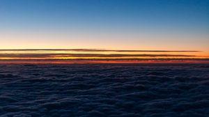 Превью обои горизонт, небо, облака, закат