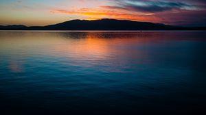 Превью обои горизонт, вода, рассвет