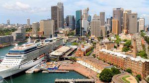 Превью обои город, архитектура, вид сверху, здания, городской пейзаж