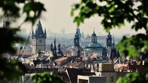 Превью обои город, чехия, prague, здания, деревья, czech republic, чешская республика