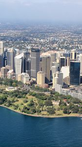 Превью обои город, мегаполис, небоскребы, вид сверху, сидней, австралия