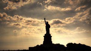 Превью обои город, статуя, статуя свободы, нью-йорк