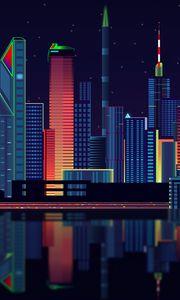 Превью обои город, вектор, панорама