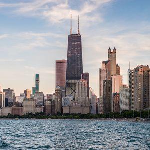Превью обои город, здания, архитектура, вода, побережье