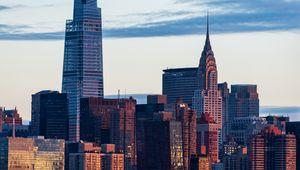 Превью обои город, здания, архитектура, закат, нью-йорк
