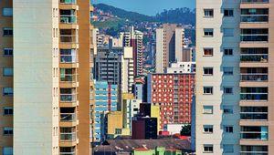Превью обои город, здания, деревья, разноцветный, вид сверху