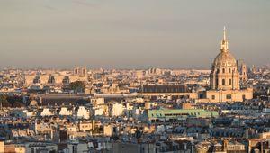 Превью обои город, здания, деревья, городской пейзаж, вид сверху