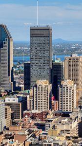 Превью обои город, здания, мегаполис, вид сверху