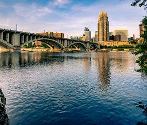 Превью обои город, здания, мост, архитектура, вода