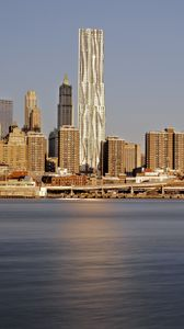 Превью обои город, здания, побережье, мегаполис, нью-йорк