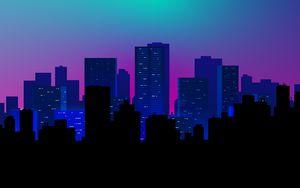 Превью обои город, здания, вектор, арт