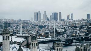 Превью обои город, здания, вид сверху, архитектура, стамбул, турция