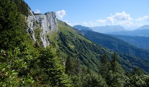 Превью обои горы, деревья, природа