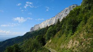 Превью обои горы, деревья, тропинка, природа, пейзаж