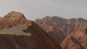 Превью обои горы, коричневый, пейзаж, природа