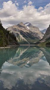 Превью обои горы, озеро, отражение, природа