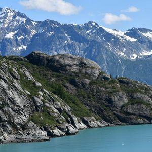 Превью обои горы, рельеф, озеро, пейзаж, природа