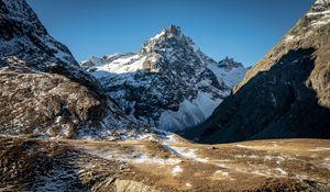 Превью обои горы, вершина, снег, природа, пейзаж