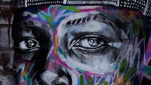 Превью обои граффити, глаза, арт, стрит арт