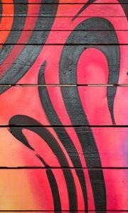 Превью обои граффити, линии, разноцветный, стена, доски, текстура