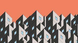 Превью обои графика, здание, форма, симметрия