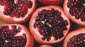 Превью обои гранат, фрукт, ягоды, спелый