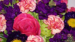 Превью обои гвоздики, цветы, букет