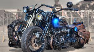 Превью обои harley-davidson, байк, мотоцикл, стиль, байкеры