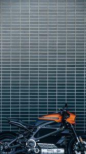 Превью обои harley-davidson livewire, harley-davidson, мотоцикл, байк, электробайк, вид сбоку