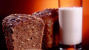 Превью обои хлеб, молоко, выпечка