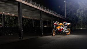 Превью обои honda, cbr1000rr, repsol, мотоцикл, байк