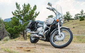 Превью обои honda, мотоцикл, байк, серый, мото