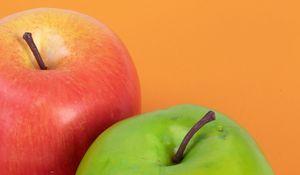 Превью обои яблоко, фрукт, красный, спелый