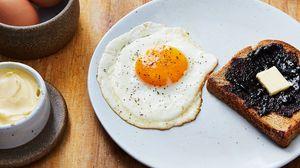 Превью обои яичница, завтрак, блюдо, кулинария