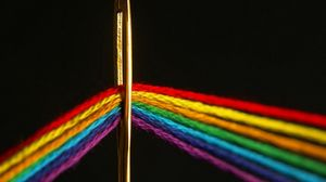 Превью обои игла, нить, цвет, спектр