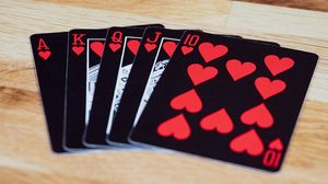 Превью обои игральные карты, карты, игра, черный