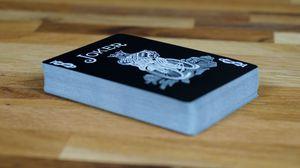 Превью обои игральные карты, карты, колода, джокер, черный