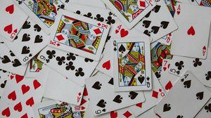Превью обои игральные карты, карты, паттерн