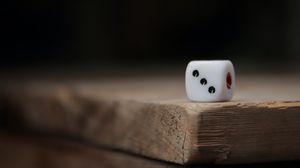 Превью обои игровой куб, кубик, поверхность, деревянный
