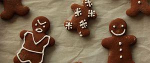 Превью обои имбирные пряники, печенье, кулинария, новый год, рождество